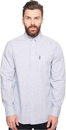 Ben Sherman - Long Sleeve Ditsy Square Print Shirt