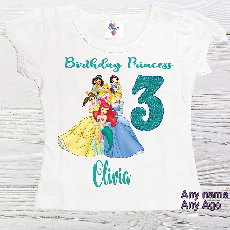 Princess girls Max 65% OFF shirt Personalized birthday Superior