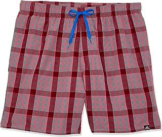 adidas Men Check Medium Length Short Check Medium Length Short, Trace Maroon/Scarlet, L