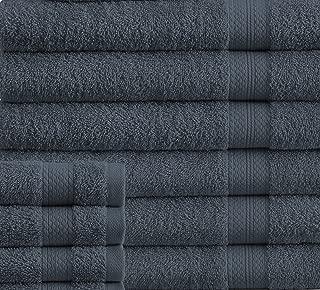 Super Absorbent Towel Eco Friendly 100 Cotton Bath Towels Set, 24 Piece Towel Set Includes 2 Bath Sheets, 4 Bath Towels, 6 Hand Towels, 4 Fingertip Towels, 8 Washcloths, Denim