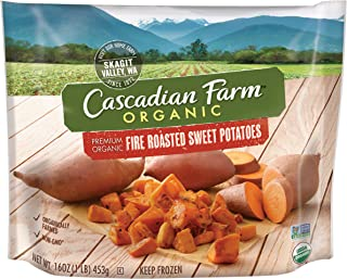 Cascadian Farm Organic Fire Roasted Sweet Potatoes, 16oz Bag (Frozen), Organically Farmed Frozen Vegetables, Non-GMO