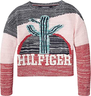 Tommy Hilfiger Girl's 2724636206-Multicolored Sweaters