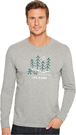 Life is Good - Night Woods Long Sleeve Crusher Tee