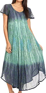 Samira Color Block Printed Sheer Cap Sleeve Relaxed Fit Dress | Cover Up