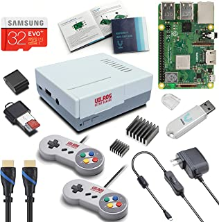 V-Kits Raspberry Pi 3 Model B+ (B Plus) Retro Arcade Gaming Kit with 2 Classic USB..