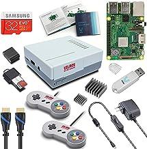 V-Kits Raspberry Pi 3 Model B+ (B Plus) Retro Arcade Gaming Kit with 2 Classic USB Gamepads [2018 Model]