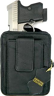 HOLSTERMART USA ブラックレザーコンシールガンベルトパックホルスター Ruger LCP 380 Sig Sauer P238 Kel-Tec 380 S&W Bodyguard 380 Taurus TCP 380 Di...