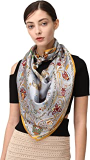 Large Silk Scarf Shawl Square 100% Mulberry Wraps For Evening Dresses
