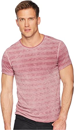 Short Sleeve Striped Crew Reverse Spray K3589U1B