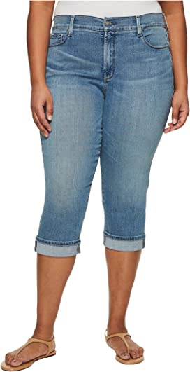 2ac665a66d6 NYDJ Plus Size Plus Size Marilyn Crop Cuff in Optic White at Zappos.com