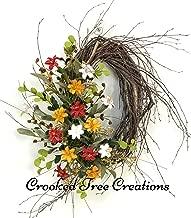 Spring Wildflower Wreath, Spring Wreath, Autumn Wreath, Summer Wreath, Wildflowers, Rustic Wreath, Wildflower Decor, Birch Wreath, Oval