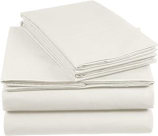 Amazon Basics AB 200TC Cotton - Light, 100%, Ivoire, 140 x 200 cm & 2 Taies 65 x 65 cm