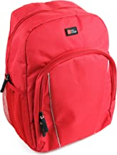 DURAGADGET Water-Resistant Bright Red Compact Backpack with Rain Cover - Suitable for The Disney Frozen Portable DVD