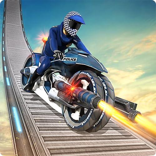 US-Polizei Bike Stunt Hero Abenteuer Simulator 3D: Highway Racer Stuntman Extreme Verkehr Freestyle Driver Mission Spiele Kostenlos für Kinder 2018