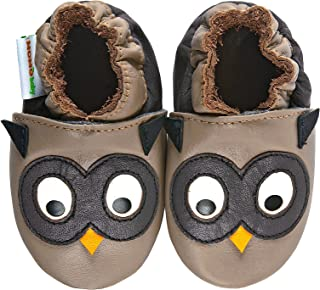 Momo Baby Boys Soft Sole Leather Shoes - Owl