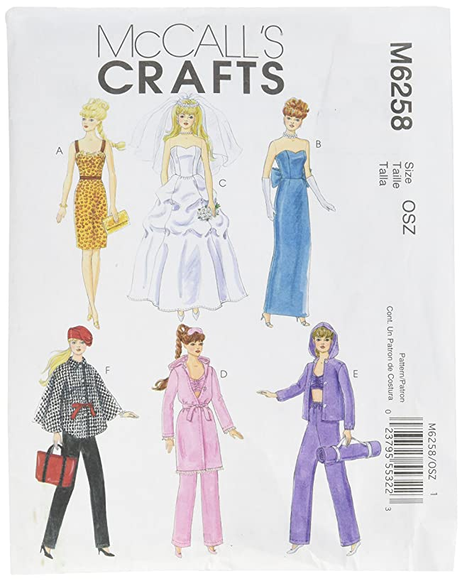 McCall's Patterns M6258 Fashion Clothes for 11-Inch Doll, One Size Only