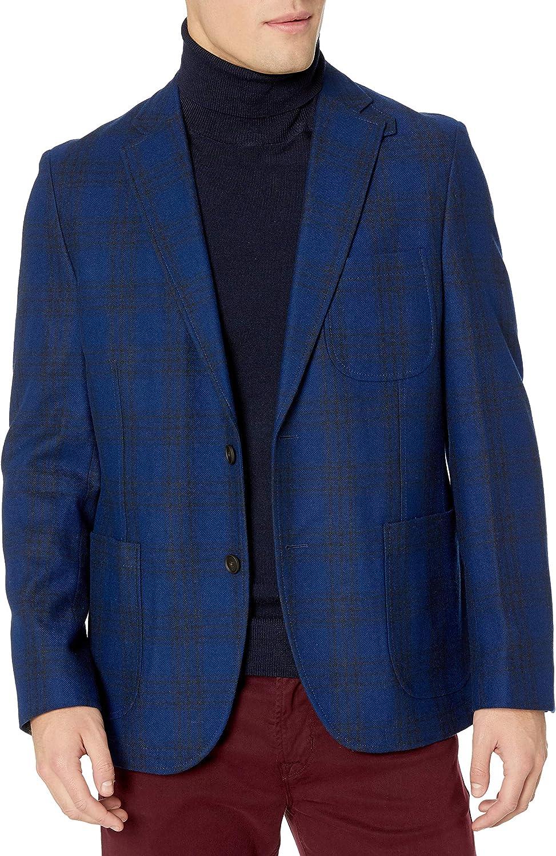 Kroon Men's White Windowpane Sportcoat Blazer