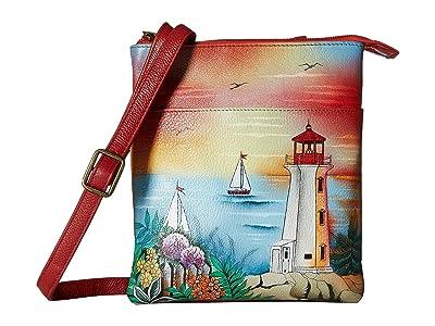 Anuschka Handbags RFID Blocking Triple Compartment Travel Organizer 596 (Guiding Light) Handbags