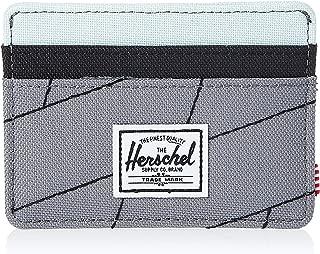 Herschel Charlie Unisex Wallet, Light Grey Crosshatch/Black/Glacier