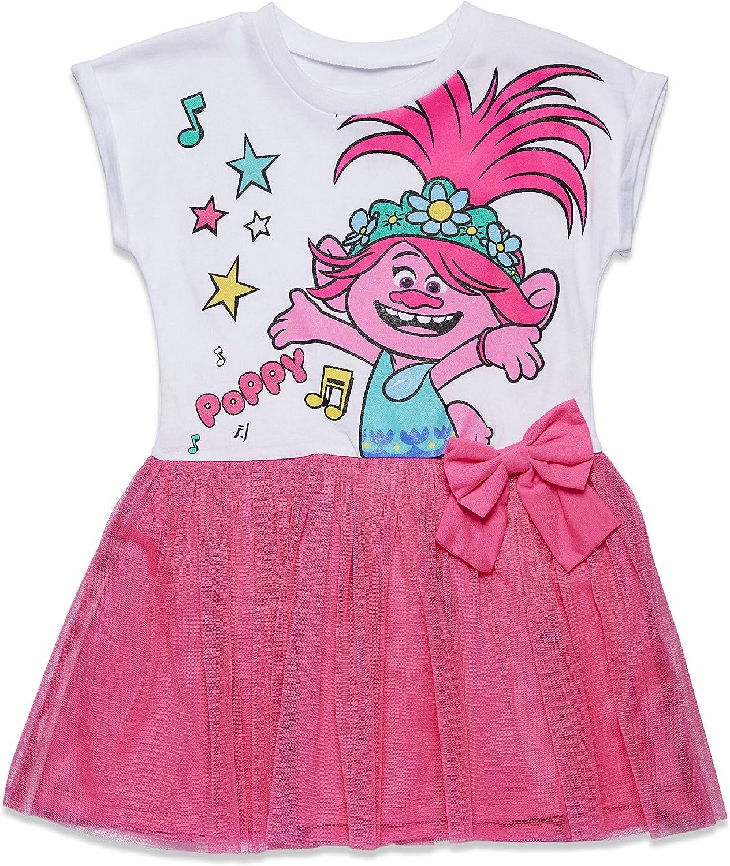 DreamWorks Trolls Poppy Girls All-Over Print Sleeveless Summer Dress