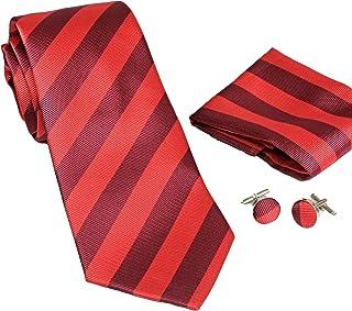 100/% seta nella scatola regalo MONETTI Set Cravatta rosso//verde colorato