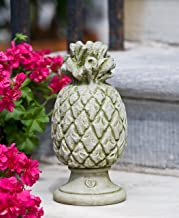 Campania International S-314-AL Williamsburg Pineapple Finial Statue, Aged Limestone Finish