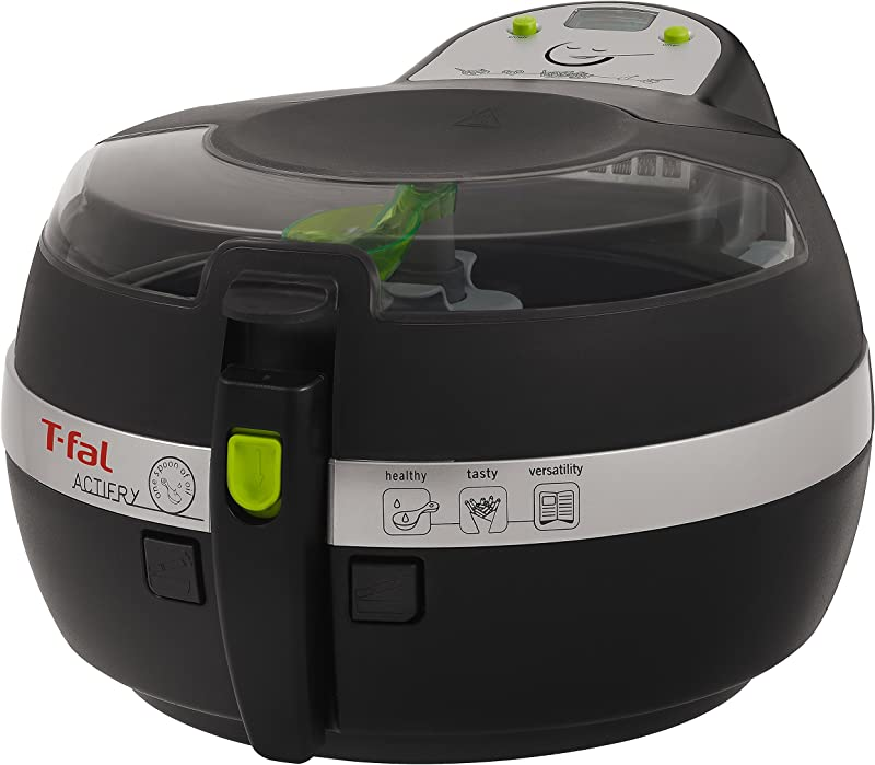 T Fal FZ700251 Actifry Oil Less Air Fryer With Large 2 2 Lbs Food Capacity And Recipe Book Black