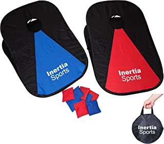 Inertia Sports Collapsible and Foldable 2 x 3' Corn Hole Game - w/ 8 Bean Bags