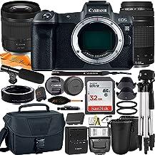 Cámara digital Canon EOS R sin espejo de 30,3 MP con marco completo RF24-4.134in + lente Daul EF75-11.811in + adaptador de montaje + tarjeta SanDisk 32 GB + funda + trípode + paquete de accesorios ZeeTech (26 unidades)