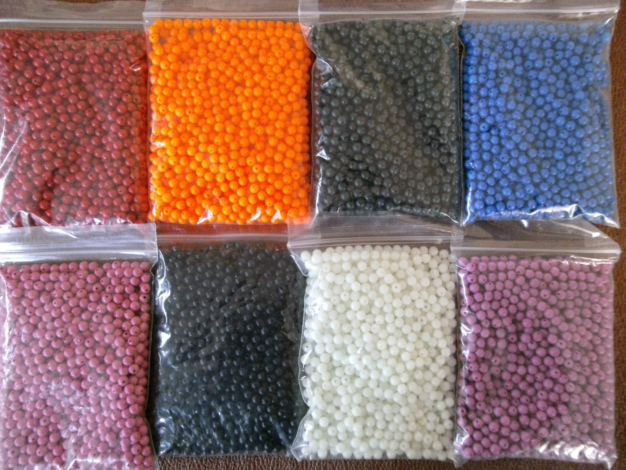 pack of 100 1 x PACK 5mm SEA FISHING RIG BEADS