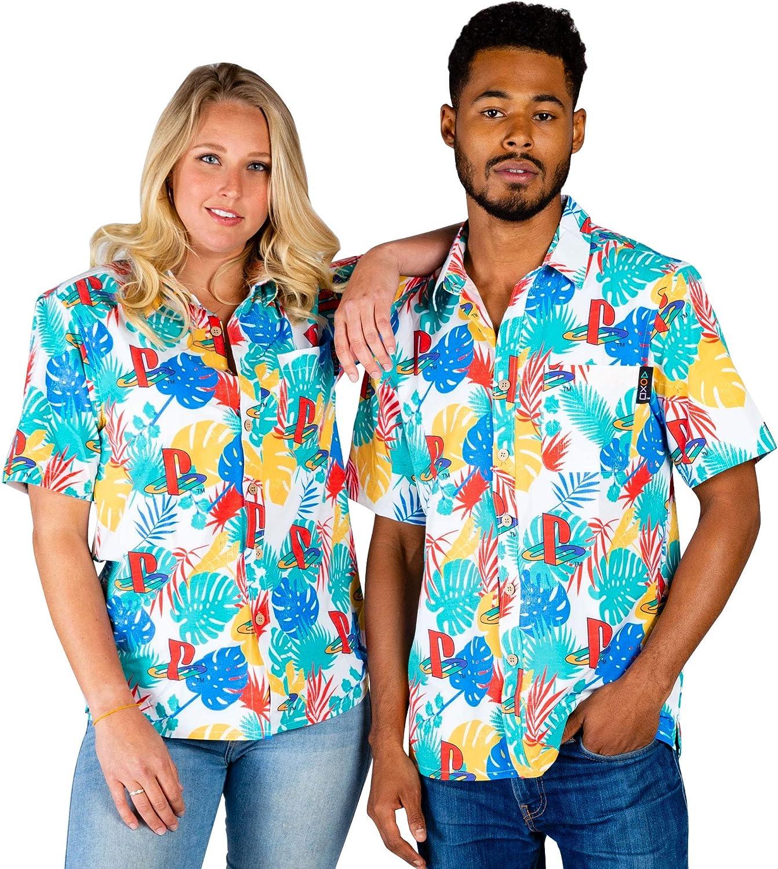 市場 Shinesty Unisex Short Sleeve Vintage Down Button 売り出し Hawaiian Shirt