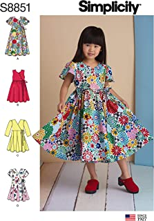 Simplicity Sewing Pattern R10126 / S8851 - Children's Dresses, Size: A (3-4-5-6-7-8)