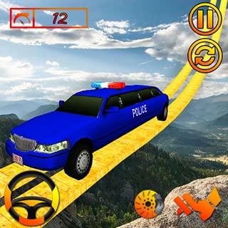 US Police Limousine Car Stunt Racing Game