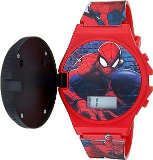 ساعة مارفل كوارتز مع شريط بلاستيكي، احمر، 19 موديل SPD4483