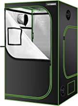 """VIVOSUN 48"""" x 48"""" x 80"""" Hydroponic Mylar Grow Tent with Observation Window and Floor Tray for Indoor Growing – 4' x 4'"""