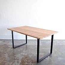 ダイニングテーブル 杉無垢材 アイアン 脚 幅140cm 2~4人掛け 180cmまでサイズオーダー無料