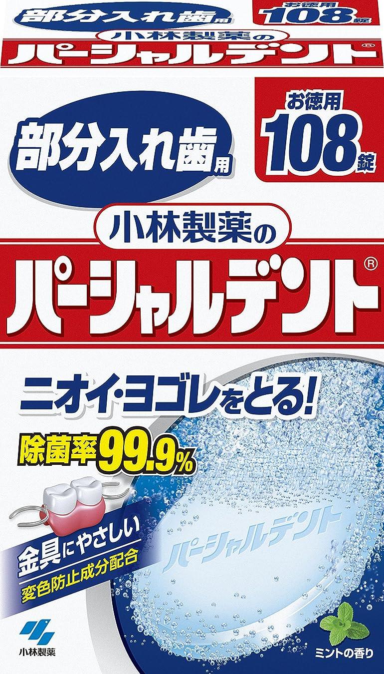 絶え間ない塗抹偶然小林製薬のパーシャルデント 部分入れ歯用 洗浄剤 ミントの香 108錠