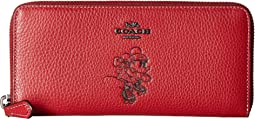 Boxed Minnie Mouse Slim Accordion Zip Wallet With Motif ©Disney x COACH