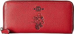 Boxed Minnie Mouse Slim Accordion Zip Wallet With Motif ©Disney x COACH