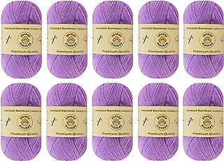 10-Pack Yonkey Monkey Skein Tencel Yarn - 70% Bamboo, 30% Cotton - Softest Quality Crocheting, Knitting Supplies - Lightwe...