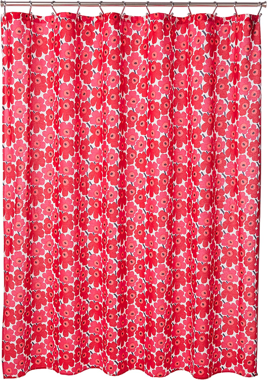 Popular popular Marimekko Mini Unikko Shower Red x Curtain Don't miss the campaign 72