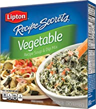Lipton Recipe Secrets Soup and Dip Mix, Vegetable 1.8 oz, Pack of 6