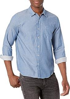 Lucky Brand Men's Long Sleeve Button Up One Pocket San Gabriel Shirt