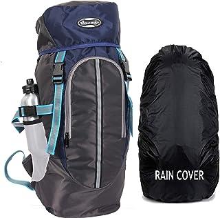 POLESTAR Hike Navy 44 Ltr Rucksack With Rain Cover For Trekking Hiking Travel Backpack