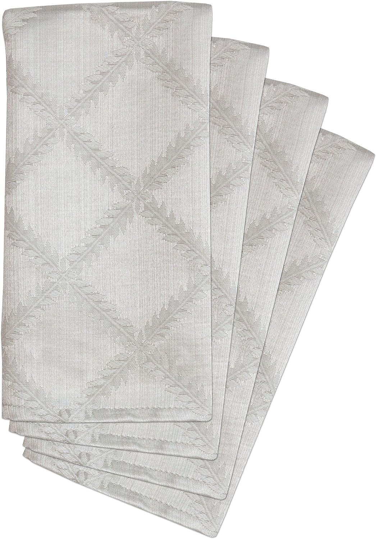 Lenox Laurel Leaf Set Platinum Napkins 4 Max Purchase 89% OFF of