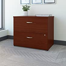 Bush Business Furniture Series C 36W 2 Drawer Lateral File in Mahogany