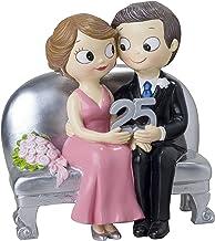 Mopec figura pastello di sposi con cani Marrone Poliresina 4/x 4/x 7/cm