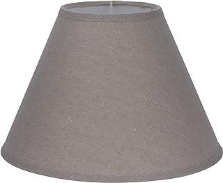 Better & Best 1833255 Pantalla lámpara algodón 25cms diámetro liso topo de algodón, color: topo