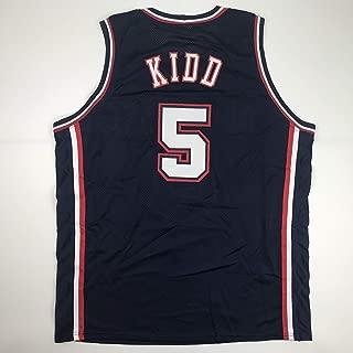 Unsigned Jason Kidd New Jersey Blue Custom Stitched Basketball Jersey Size Men's XL New No Brands/Logos