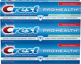Crest Pro-Health Clean Mint Toothpaste, 4.6 oz (pack of 3)